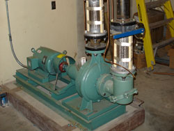 Heating Water Pumps at City of Winfield Water Treatment Plant